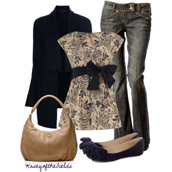 Casual Outfit: Style, Shirts, Weekend Outfits, Dorothy Perkins, Jeans, Fashionista Trends, Bows, Casual Outfits, Floral Dresses