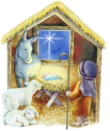 (4) It had a manger and hay, not much more, Just a few animals and a dirt floor