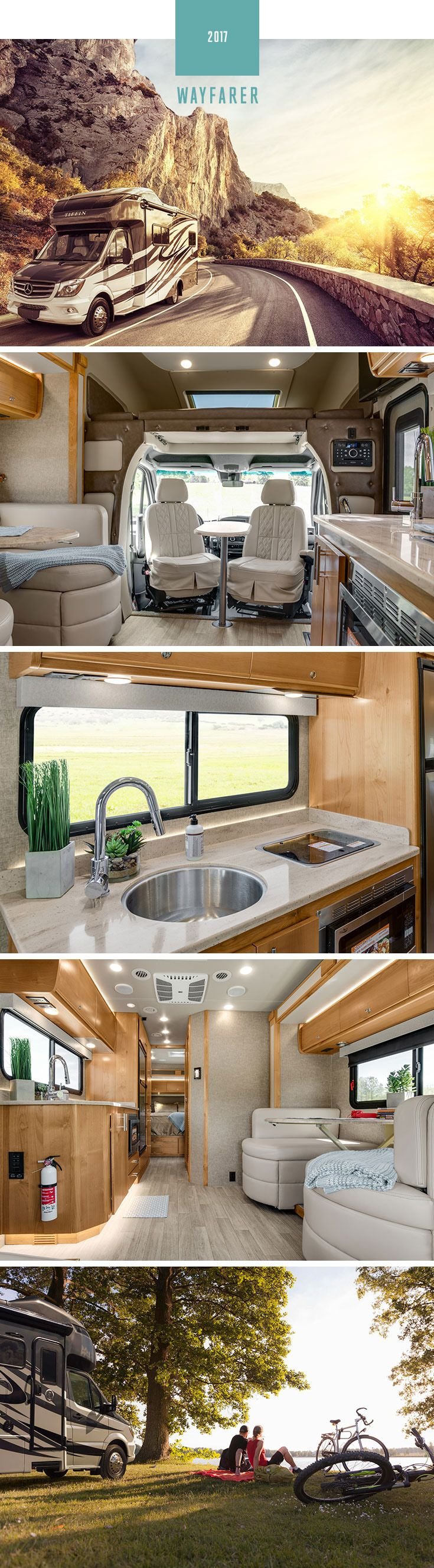 Fun to drive and ready when you are. The 2017 Tiffin Wayfarer is a new Class C from Tiffin Motorhomes. Jump in one today.