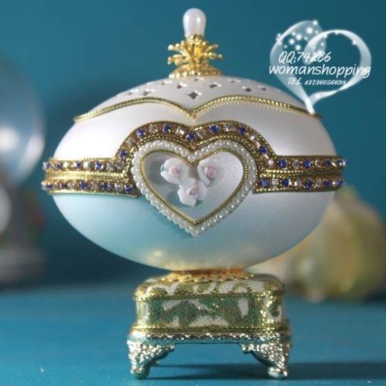 Gold with pearl heart  Faberge style Russian carved egg music box free shipping e07 on AtomicMall.com http://atomicmall.com/view.php?id=2287297_source=Twitter_medium=ProductToools