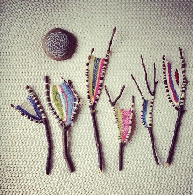 stick loom weaving (photo from kirstenrickert on instagram)