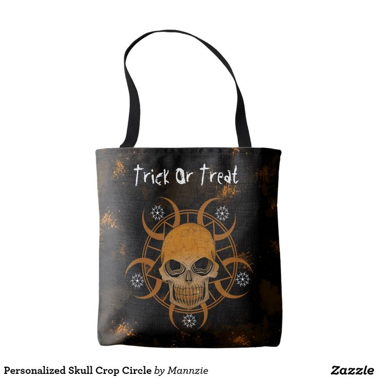 Personalized Skull Crop Circle Tote Bag