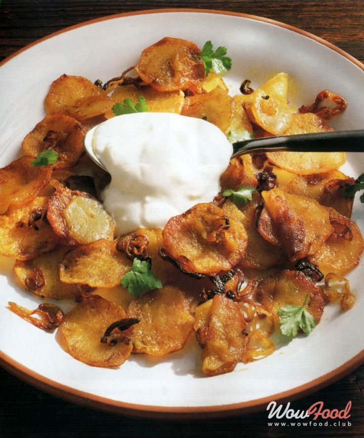 Хрустящий картофель с кориандром