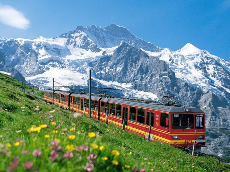 Jungfrau, Swiss Alps - This is one of the most known summits in the Bernese Alps and lies between the cities of Bern and Valais. Vacationers can take a train ride through the area to take in the breathtaking sites that this mountain has to offer. The ride is inexpensive and well worth it. This region is also spectacular for climbers. (https://www.facebook.com/TravelingWarrior) #Bern #Switzerland #Alps