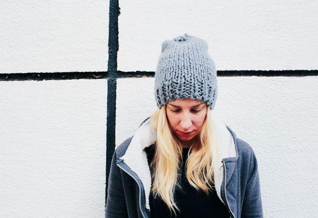 knit, knitting,knit free pattern, knit slouchy beanie, knit beanie, free pattern, little things blogged