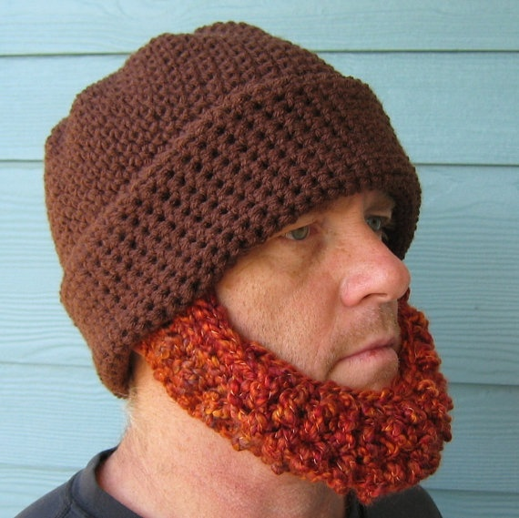 Crochet Pattern For Mens Beanie With Beard : Crochet Beard Beanie pattern Crochet Pinterest