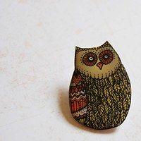 owl brooch   Fler.cz