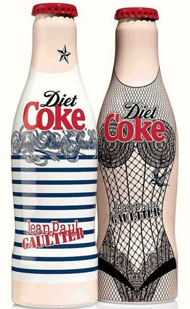 Diet Coke: new set of bottles inspired by Jean Paul Gaultier's iconic creations.