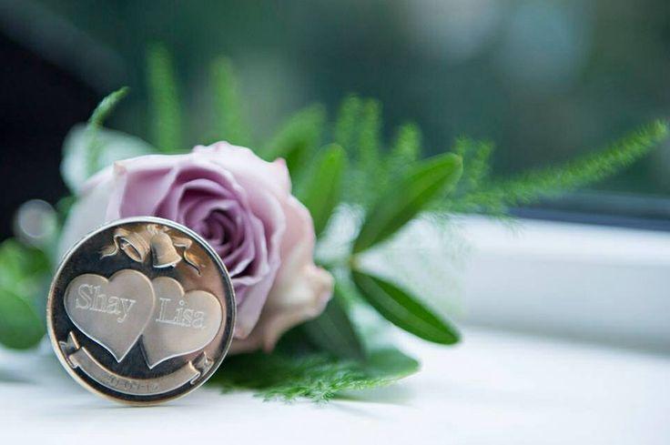 Engraved wedding coin