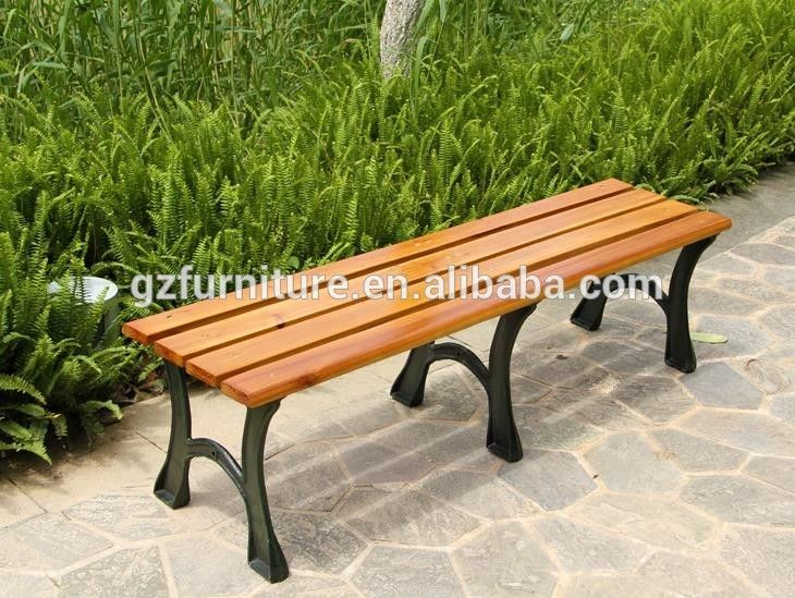 backless three legs park bench buy wrought iron garden benches salewooden bench with cast iron endspatio furniture iron product on alibabacom