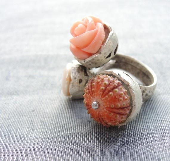 Sea Urchin Ring. Love this unique ring!