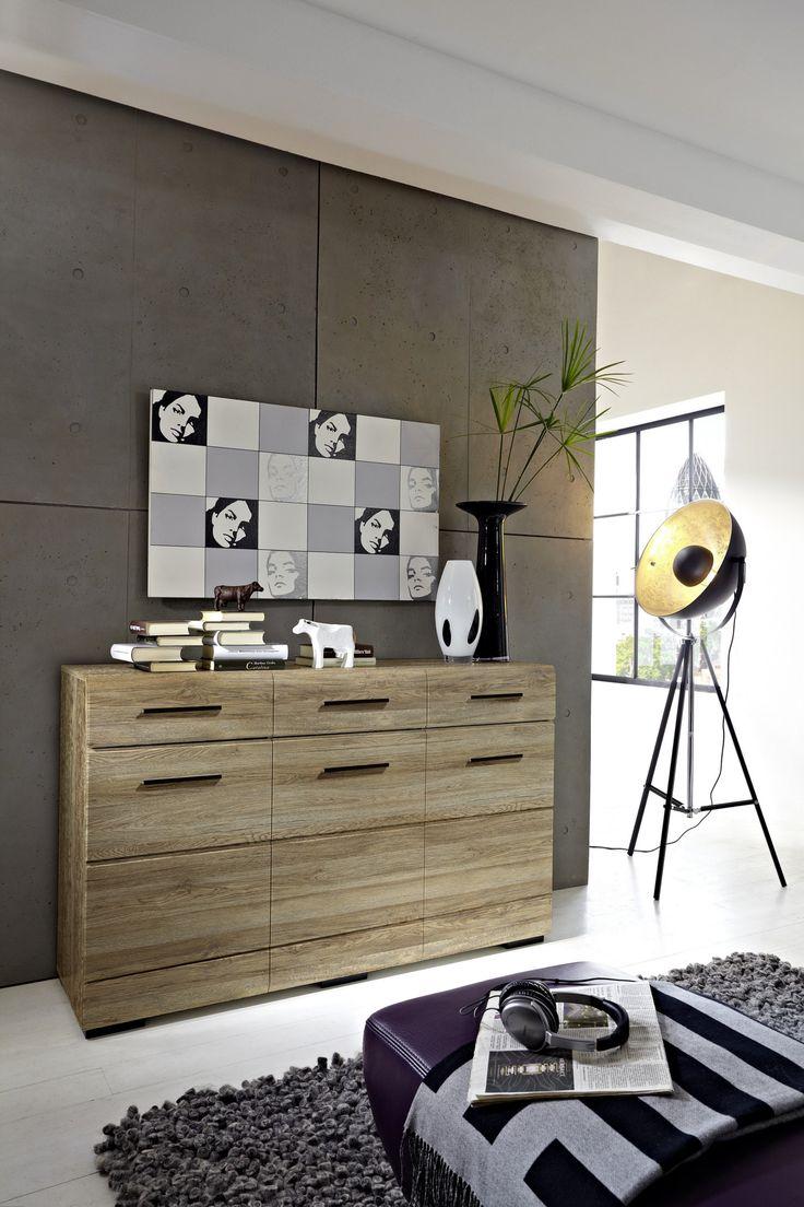 Beautiful Sideboard San Remo Eiche Hell Woody modern Jetzt bestellen unter https moebel ladendirekt de wohnzimmer schraenke sideboards uid udbfc