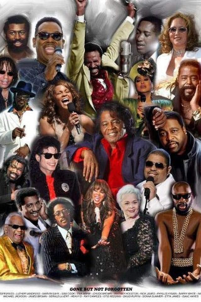 Passed Music Legends. Teddy Pendagrass, Luther Vandross, Marvin Gaye, Sam Cooke, Teena Marie, Billy Paul, Whitney Houston, Phyliss Hyman, Barry White, Nick Ashford, Michael Jackson, James Brown, Eddie Lavert, and more.
