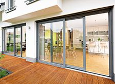 Slide and Fold Ltd copyright image gallery for sliding folding bifold, trifold,  two, three, four, five, six ,seven pane doors.