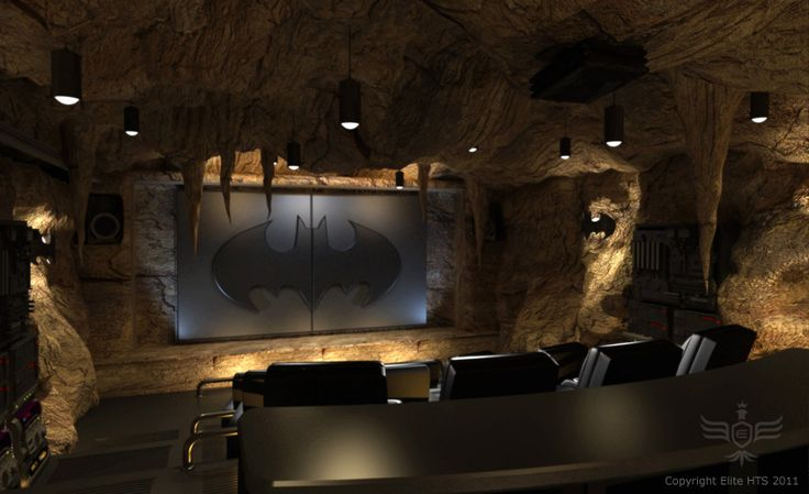 Spannend: de home cinema batcave!