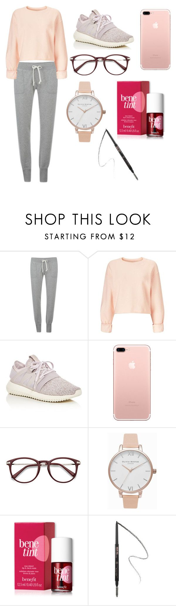 """Untitled #109"" by aly267 on Polyvore featuring Converse, Miss Selfridge, adidas, Olivia Burton, Benefit and Anastasia"