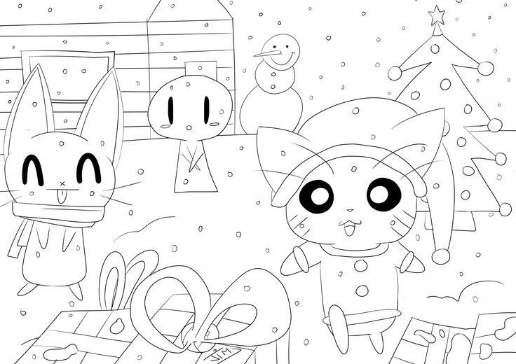 Le père noël est passé apparemment, et ces petits animaux sont très excités d' ouvrir leurs cadeauxA partir de la galerie : Doodle Art DoodlingArtiste : Jim