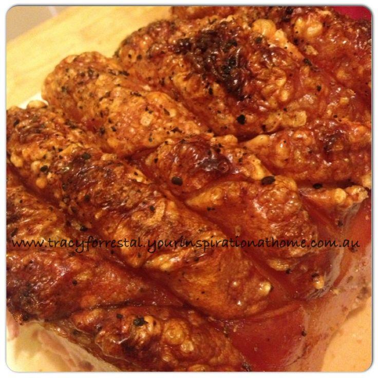 Amazing roast pork and crackling.  I love the YIAH smoked orange, garlic and chilli grinder salt