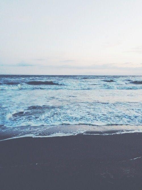 Faded ocean hues