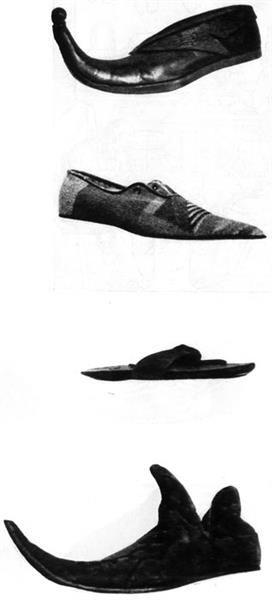 Как назывались туфли с длинным носом в средние века