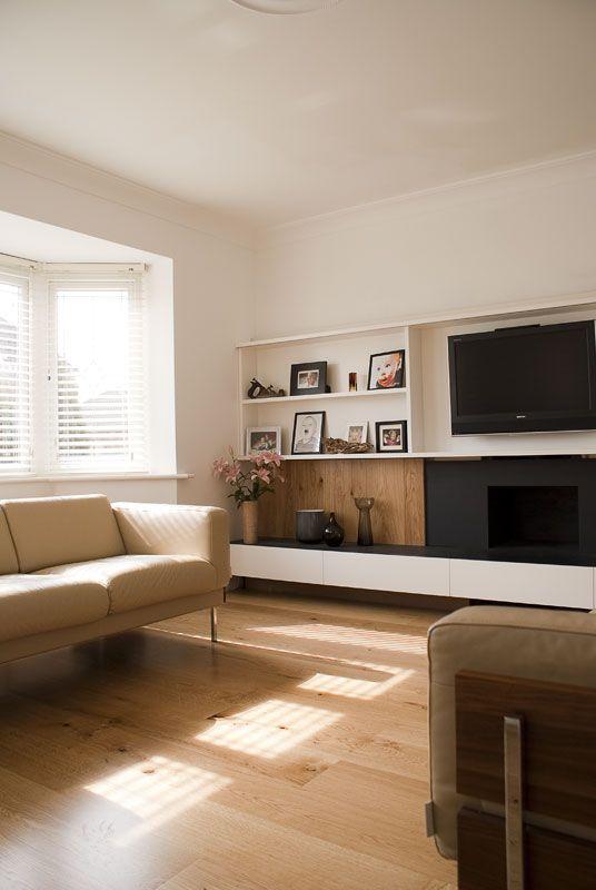 Bespoke Painted / Oak TV surround