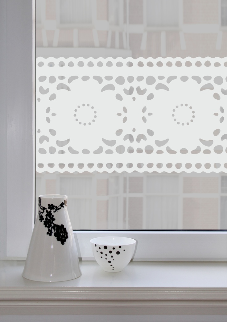 White Windowsticker Lace from Studio Haikje #window stickers #decorate your window #stylish window stickers #Lace
