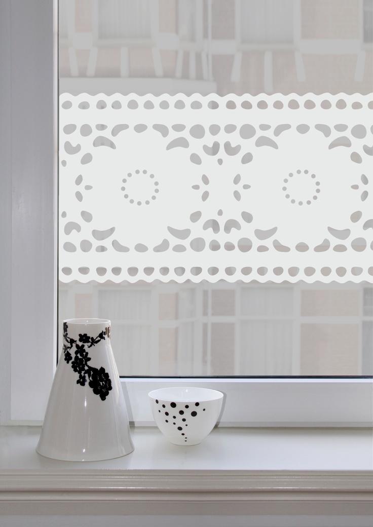 White Windowsticker Lace from Studio Haikje Easy Instant Decoration Window Sticker Decal