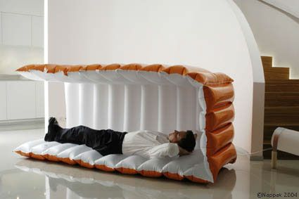 Break out the big guns with an inflatable nap pod you can take anywhere. | To Help You Sleep Anywhere