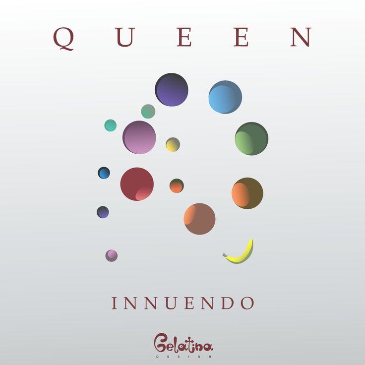 """Innuendo – grafica  4 febbraio 1991 – Viene pubblicato in Gran Bretagna e in Europa """"Innuendo"""", album dei Queen che arriverà in America il giorno successivo. Every Day – GELATINA DESIGN"""