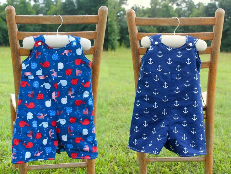 Sew a reversible baby romper with this baby romper pattern This is a sewing pattern to make your own baby rompers (or shortalls). The design is reversible so you can use two fabrics for two rompers in