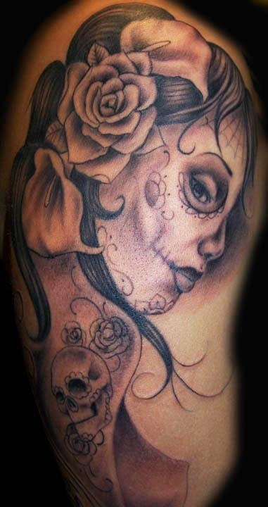 28 best images about day of dead tattoos designs on pinterest. Black Bedroom Furniture Sets. Home Design Ideas