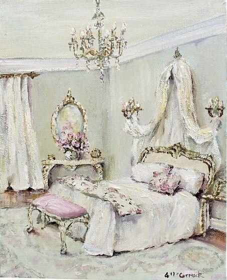 Original Whimsical Painting - Elegant Romance - Postage is included Australia Wide
