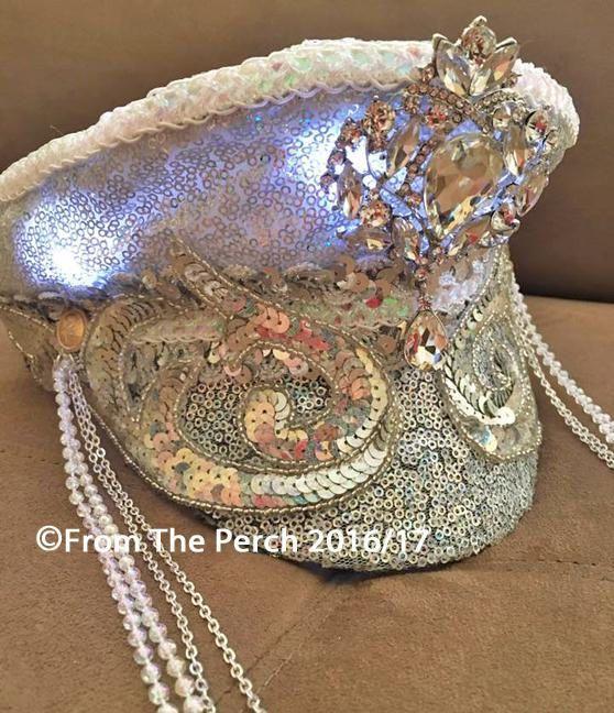 Burning Man Captain's Hat for Festivals Light up Hat