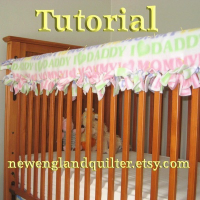 No Sew Tied Quilted Crib Rail Guard