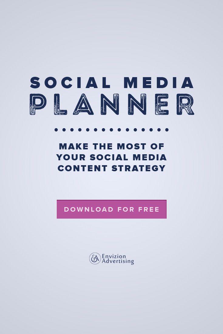 Make the most of your social media content strategy. http://envizionadvertising.com/#utm_sguid=134760,ea80df95-28a1-8912-05b2-f1c7a80c56e7