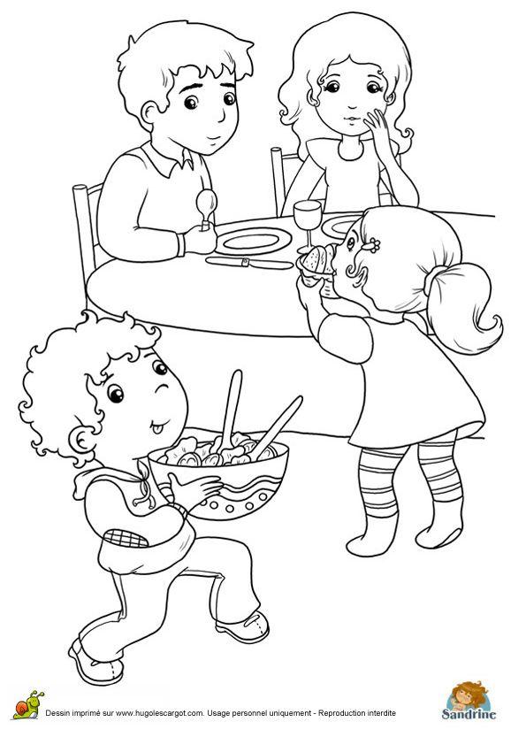 les 63 meilleures images du tableau coloriages de repas de fête