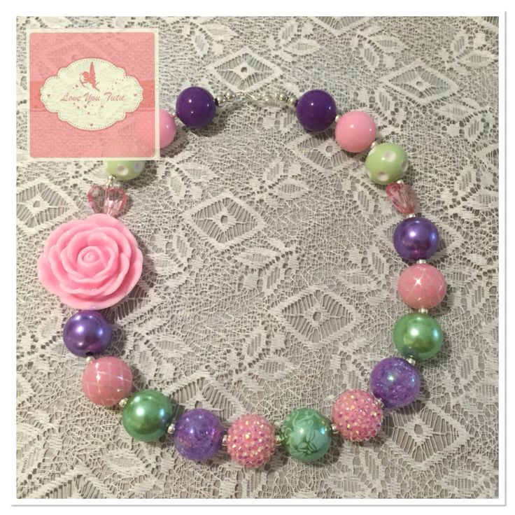 Bubble gum beads the perfect accessory