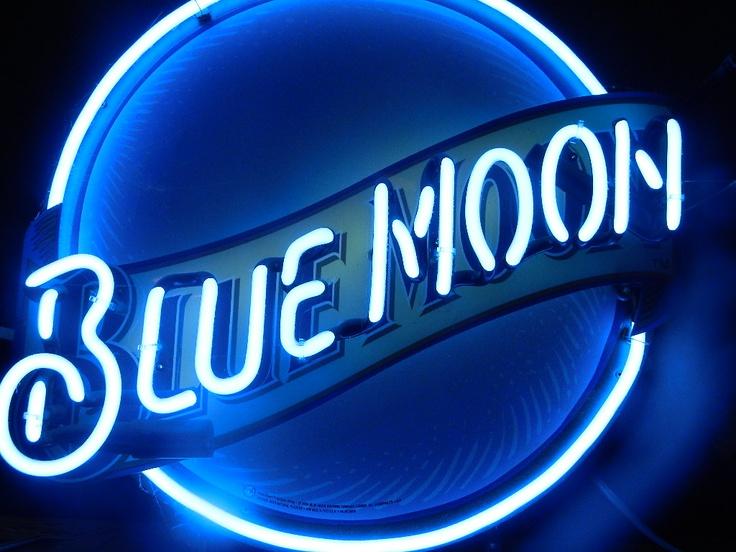 blue moon neon light Blue moon, Nissan logo, Neon signs
