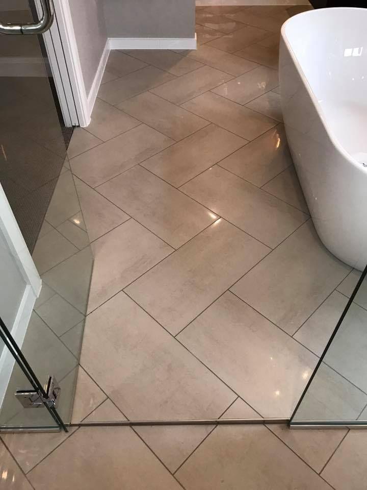 Tempo White Lapatto 300x600 Laid In A Herringbone Design To Add Some Magic To A Bathroo Bathroom Floor Tile Patterns Bathroom Floor Tiles Patterned Floor Tiles