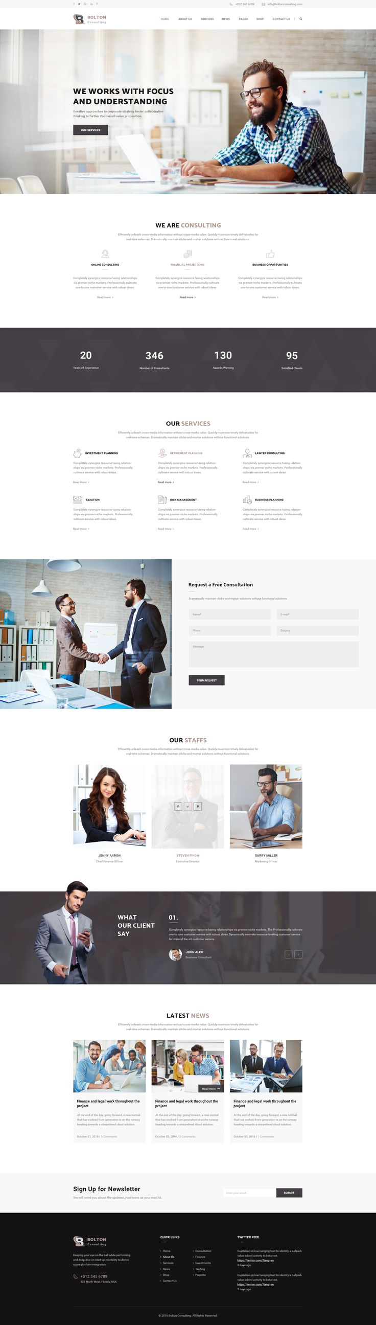 Bolton : Consulting PSD Template • Download ➝ https://themeforest.net/item/bolton-consulting-psd-template/18531904?ref=pxcr