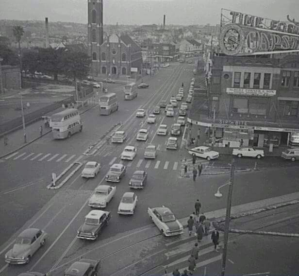 Taylor Square,Darlinghurst in Sydney in 1961.Photo from City of Sydney Archives.A♥W