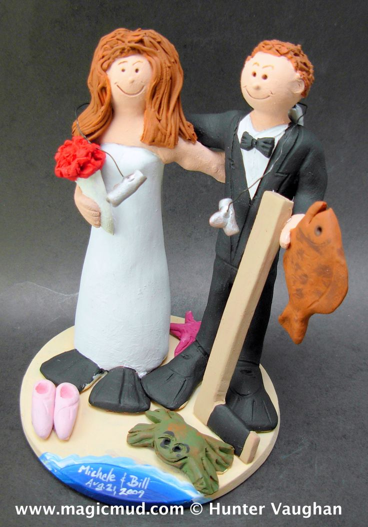 Skin Diving Bride Marries Hockey Groom Wedding Cake Topper http://www.magicmud.com 1 800 231 9814 magicmud@magicmud.com $235 https://twitter.com/caketoppers https://www.facebook.com/PersonalizedWeddingCakeToppers #wedding #cake #toppers #custom #personalized #Groom #bride #anniversary #birthday#weddingcaketoppers#cake-toppers#figurine#gift#wedding-cake-toppers #scuba#skinDiver#scubaDiver#diver#diving#ocean#snorkel#beach