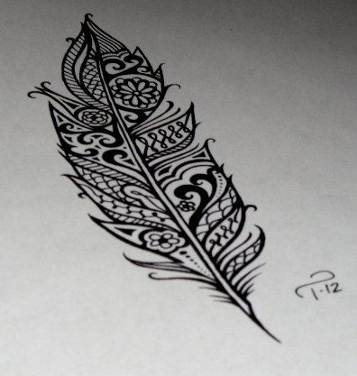 feather design, love the tattoo patterns tattoo tattoo design| http://tattoo-patterns-520.blogspot.com