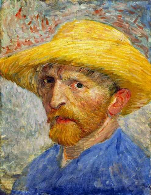 Van Gogh Self-portrait, 1887 - 14