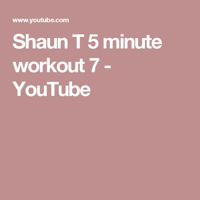 Shaun T 5 minute workout 7 - YouTube