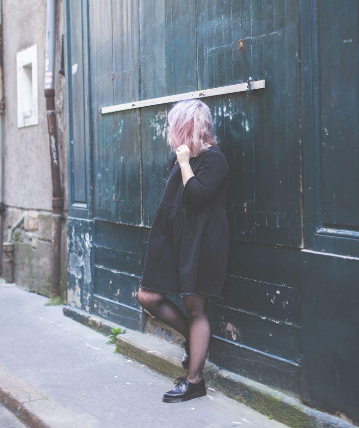 Denim ASOS black dress