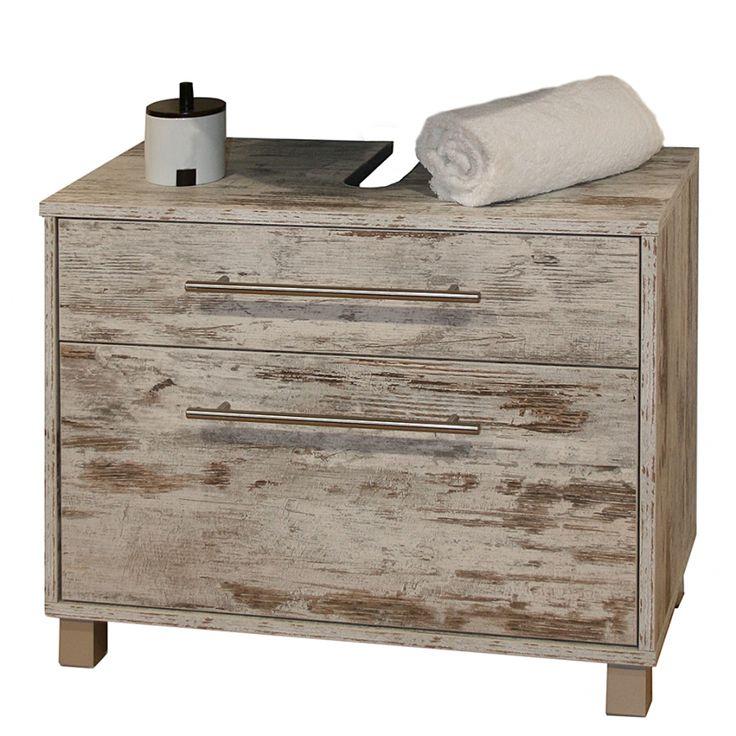Waschbeckenunterschrank Moncton - Mit zwei Schubladen - Eiche antik, home 24