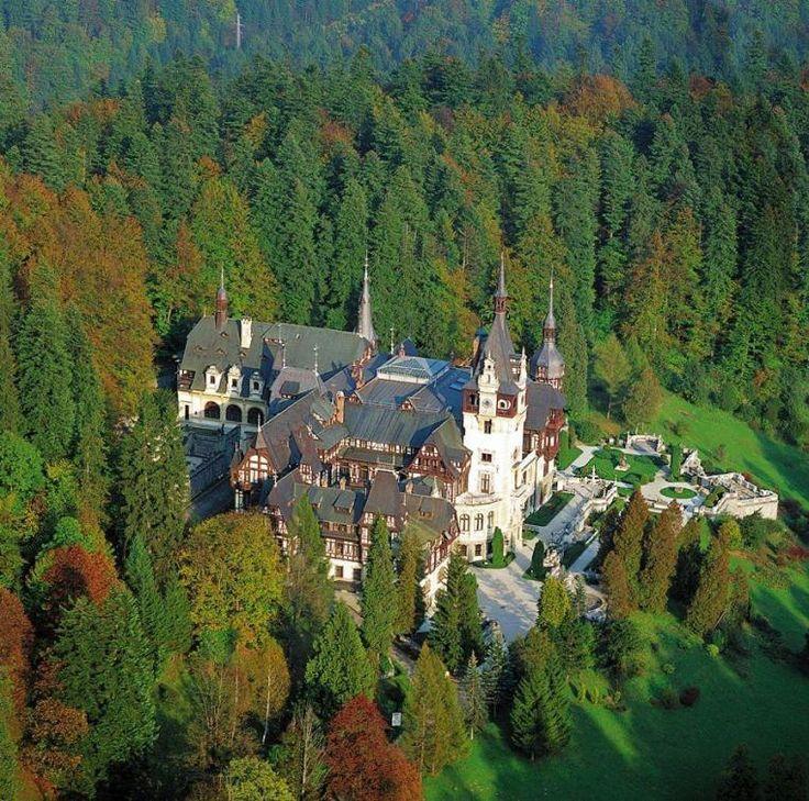 Romania Sinaia Peles palace castle most beautiful  scenery european castles palaces eastern europe Carpathian mountains