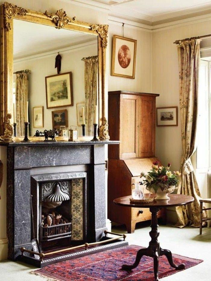 Les 25 meilleures id es de la cat gorie miroirs anciens - Miroir de cheminee ...