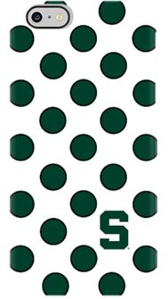 Michigan State Black Green Dot